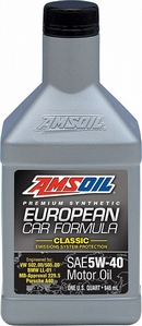 Объем 0,946л. AMSOIL European Car Formula Full-SAPS Synthetic Motor Oil 5W-40 - EFMQT