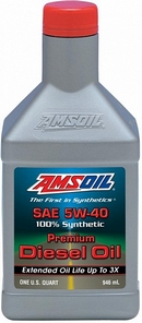 Объем 0,946л. AMSOIL Premium Synthetic Diesel Oil 5W-40 - DEOQT