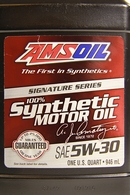 Объем 0,946л. AMSOIL Signature Series Synthetic Motor Oil 5W-30 - ASLQT