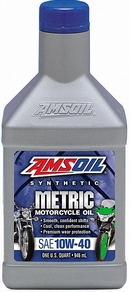 Объем 0,946л. AMSOIL Synthetic Motorcycle Oil 10W-40 - MCFQT