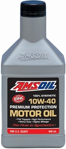 Объем 0,946л. AMSOIL Synthetic Premium Protection Motor Oil 10W-40 - AMOQT