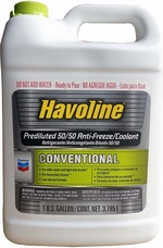 Антифриз готовый зеленый CHEVRON Havoline Conventional Prediluted 50/50 Anti-freeze/Coolant - 226821497 Объем 3,785л.