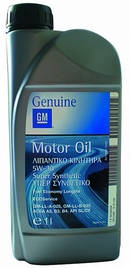Объем 1л. GM Motor Oil Super Synthetic 5w-30 - 1942039