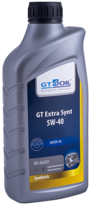 Объем 1л. GT-OIL GT Extra Synt 5W-40 - 8809059407400