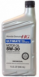 Объем 0,946л. HONDA Ultimate Full Synthetic 5W-30 SN - 08798-9039