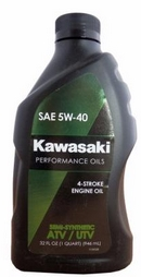 Объем 0,946л. KAWASAKI Performance Oils 4-Stroke Engine Oil ATV/UTV Semi-Synthetic 5W-40 - K61021-205A