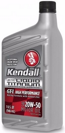 Объем 0,946л. KENDALL GT-1 High Performance Motor Oil with Liquid Titanium 20W-50 - 1057267