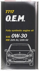 Объем 4л. MANNOL 7717 O.E.M. for Mercedes Benz 0W-30 - 4060