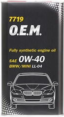 Объем 4л. MANNOL 7719 O.E.M. for BMW Mini  0W-40 - 4065