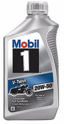 Объем 0,946л. MOBIL 1 V-Twin Motorcycle Oil 20W-50 - 112630