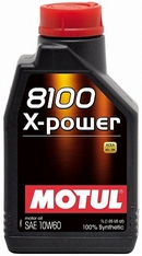 Объем 1л. MOTUL 8100 X-Power 10W-60 - 106142