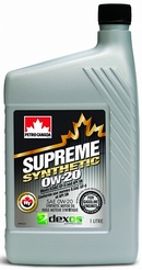 Объем 1л. PETRO-CANADA Supreme Synthetic 0W-20 - MOSYN02C12