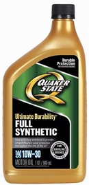 Объем 0,946л. QUAKER STATE Ultimate Durability 10W-30 - 550036715