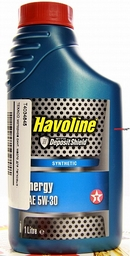 Объем 1л. TEXACO Havoline Energy 5W-30 - 840123NKE