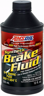 Тормозная жидкость AMSOIL Series 600 DOT 4 Racing Synthetic Brake Fluid - BF4SN Объем 0,355л.