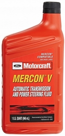 Объем 0,946л. Трансмиссионное масло FORD Motorcraft Mercon V Automatic Transmission and Power Steering Fluid - XT-5-QMC